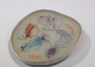 Plankton brooch